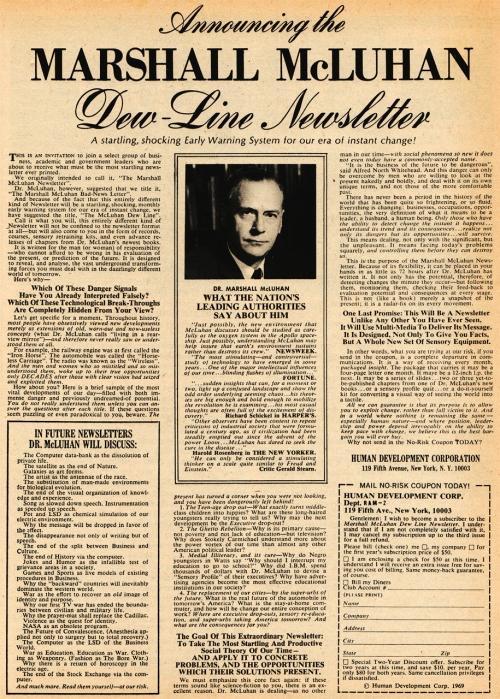 McLuhan DEW-Line Announcement_l